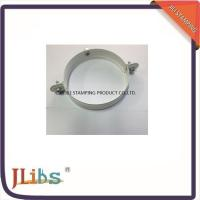 Buy cheap Galvanized Metal Supporting Round Clamp Down Pipe Clamps Riveted Fixed Screw product