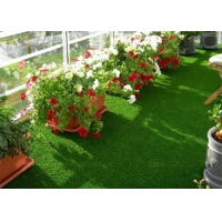 Buy cheap Green 5600 Dtex Residential Balcony Artificial Grass Carpet product