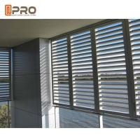 Buy cheap Eco - Friendly Aluminium Louver Window , Secure Glass Shutter Openable Plantation Louver Ventilation Grille Window product