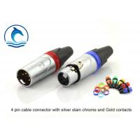 Buy cheap Silver Housing Gold Contacts Xlr Female Connector / CL-4FX Audio Video Cable Connectors product