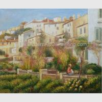 Buy cheap Custom Pierre Auguste Renoir Oil Paintings Reproduction Terrace at Cagnes from wholesalers