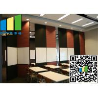 Quality restaurant Fabric Wall White Bi Fold Internal Doors 30 -  48 Inch Width for sale