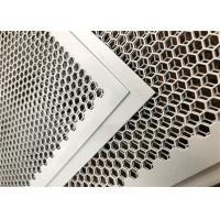 Buy cheap Customized Perforated Metal Mesh , Perforated Corrugated Metal Round And Hexagonal Holes product