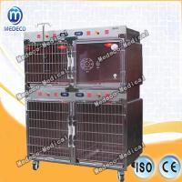 China Veterinary Clinic New warm light power oxygen cage  Steel Cage Moddel Pet Carrier Medy-03 on sale