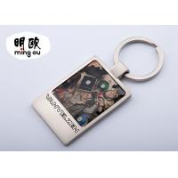 Buy cheap Back Blank Square Photo Key Chains With Logo Printed / Custom Metal Key Tags product