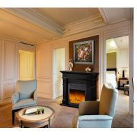 Buy cheap Black Energy Efficient Modern Electric Fireplace for Reception Room / Hotel Hall product