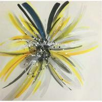 Buy cheap Modern Hand Painted Flower Paintings Fashion Square Abstract Art Canvas from wholesalers