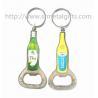 Buy cheap Epoxy bottle design metal bottle opener keyring, epoxy dome bottle shape bottle opener, product