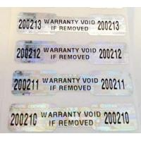 Buy cheap BOPP Tamper Proof Security Stickers Self Adhesive Flame Retardant product
