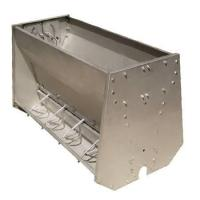Buy cheap Stainless Steel Double Sided Pig Feeding Trough , Pig Water Trough product