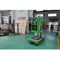 Buy cheap 8m Platform Height Single Mast Aluminum Aerial Work Platform Green Color Shopping Mall Using with AC Power Supply product