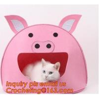 Buy cheap soft felt pet house, Pet Beds & Accessories, Felt pet house, Felt cats pet bed, felt pet house for dog or cats product