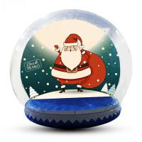 Buy cheap Advertising Custom Christmas Blow Up Snow Globe Double And Quadruple Stitched product