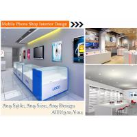Modern white baking paint mobile phone store fixtures furniture shop ...