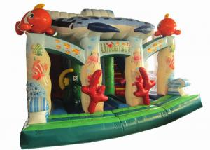China Beautiful Colourful Commercial Inflatable Water Slides Undersea World Theme 0.55mm Pvc Tarpaulin on sale