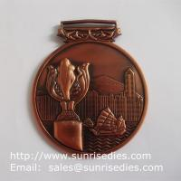 Buy cheap 3D embossed medals and medallions, personalized metal medal with ribbon lace product