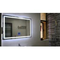 Buy cheap Simple square hotel smart led without frame bathroom mirror wall hanging mirror lighting bathroom mirror from wholesalers