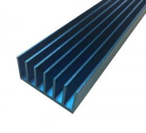 Buy cheap LED Extruded Aluminum Heat Sink Profile Blue Anodized Square Shape product