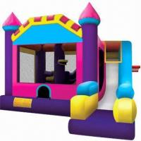 Buy cheap Combo 3-in-1 Inflatable Bouncy Castle with Climbing, Slide and Hoop  product
