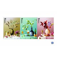 Buy cheap 3D 30x40cm Triple Transition Flower Wall Poster 3 Images For Restaurant product