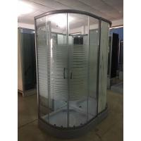 Buy cheap Horizontal Stripe 5m Door Thickness Tempered Glass Corner Shower Cabin 90 x 90 x 200 / Cm product