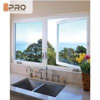 Buy cheap Double Casement Aluminum Fabrication Windows For House Swing Open Style product