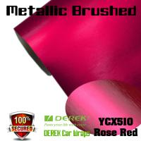 Buy cheap Matte Metallic Brushed Vinyl Wrapping Film - Matte Metallic Brushed Rose Red product