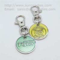 Buy cheap Glass enamel metal coin key tags, glass enamel supermarket trolley coin holders, product