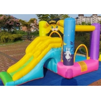 Buy cheap Mini Outdoor Home Backyard Inflatable Bouncer Bounce House Jumping Bouncy Castle With Slide For Residential product