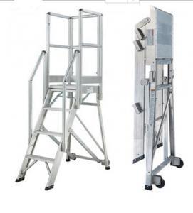 Buy cheap Industrial Aluminum Step Platform , Aluminium Access Platforms With Wheels product
