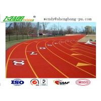 Quality Full PU Glue Rubber Running Track Plus SBR EPDM Particle Mixture For Stdaium School Playground for sale