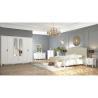 Buy cheap Modern Middle East Moslem White Bedroom Furniture , 2.4 Meter 6 Door Mirrored Wardrobe product
