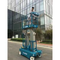Buy cheap Compact 12 m Working Height Double Mast Aircraft Aluminum self propelled boom lift product