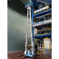 Buy cheap 12 M Aluminum Alloy Double Mast Man lift Aerial Work Platform aerial platform lift product