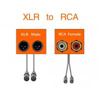 Buy cheap Dual XLR Female To RCA Link Cable Phono Plug HiFi Stereo Audio Connection product