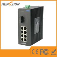 Buy cheap 8 Port + 1 Port Industrial Dinrail Outdoor Network Switch 154*128.5*58mm product