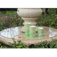China 3 Flameless Led Wax Candles , Flameless Outdoor Candles Glitter Finish on sale