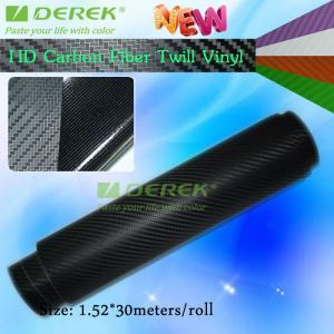 Buy cheap High-definition Carbon Fiber Vinyl Car Wrapping Film - Black product
