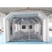 Buy cheap 7x4x3m Carbon Filter Paint Inflatable Spray Booth / Portable Car Spray Booth Tent product