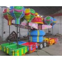 Buy cheap 32 Seats Trailer Mounted Rides With Colorful Balloons And Beautiful Cabins product