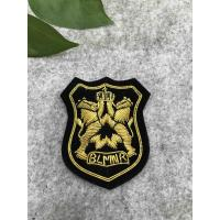 China Eco Friendly Bullion Wire Badges For Garment , Hand Embroidered Bullion Badges on sale
