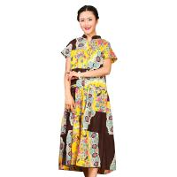 Buy cheap Traditional Chinese Women'S Dress , Ladies Long Cotton Dresses Stand Neckline product