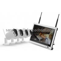 Quality NVR with LCD Screen 4CH 720P Bullet WIFI IP Cameras Support P2P Wireless Surveillance System for sale