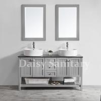 Buy cheap Daisy 60 inch Bathroom Vanity solid wood design with double sink and mirror from wholesalers