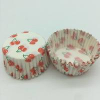Buy cheap Cherry Pattern Greaseless Cupcake Liners, Muffin Cake Paper Cups For Children Party product