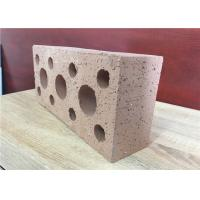 Quality Weather Resistant Hollow Clay Brick Veneer , Clay Hollow Blocks 35% Void Ratio for sale