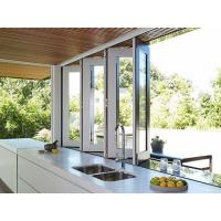 Buy cheap Commercial System Tempered Glass Aluminum Bifold Windows For Living Room product