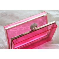 Buy cheap Red Party acrylic makeup storage boxes / perspex boxes Eco-Friendly product