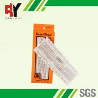Quality Socket White Electronics Breadboard Power Line Spring Clip Finishing for sale