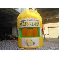 Buy cheap Yellow Oxford Inflatable Lemonade Booth PLT-063 3 M Dia / 4 M Height product
